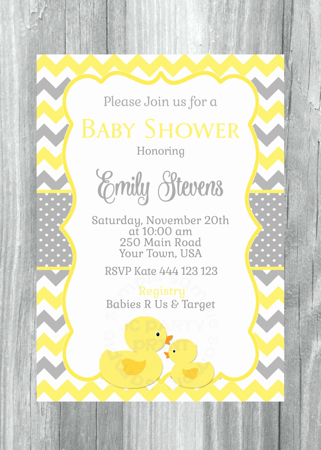 Rubber Ducky Baby Shower Invitation Awesome Rubber Ducky Baby Shower Invitation Rubber Duck Yellow and