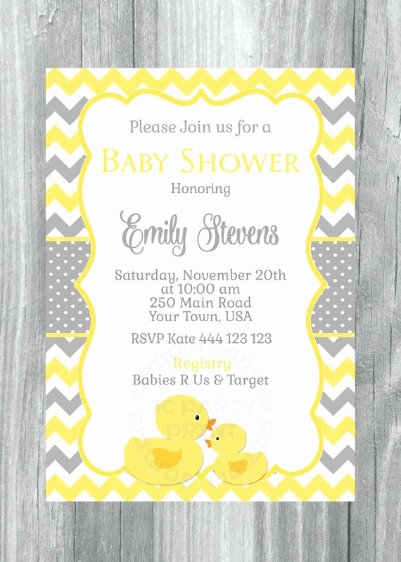 Rubber Ducky Baby Shower Invitation Awesome Rubber Ducky Baby Shower Invitation Rubber Duck Yellow
