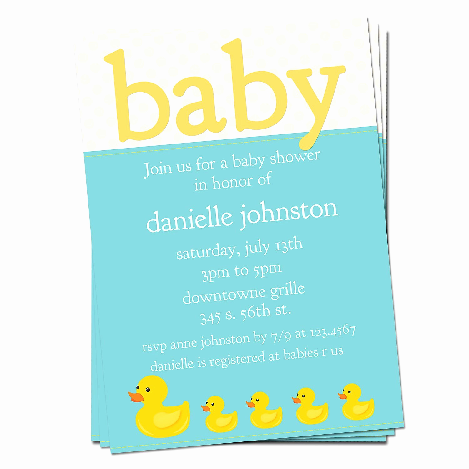 Rubber Ducky Baby Shower Invitation Beautiful Rubber Ducky Baby Shower Invitation