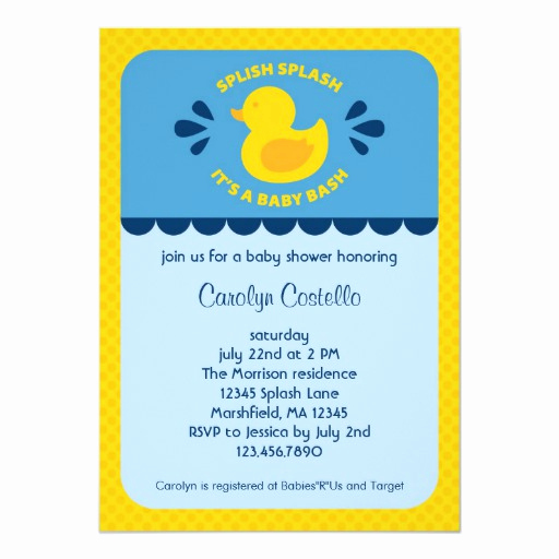 Rubber Ducky Baby Shower Invitation Best Of Rubber Ducky Baby Shower Invitation