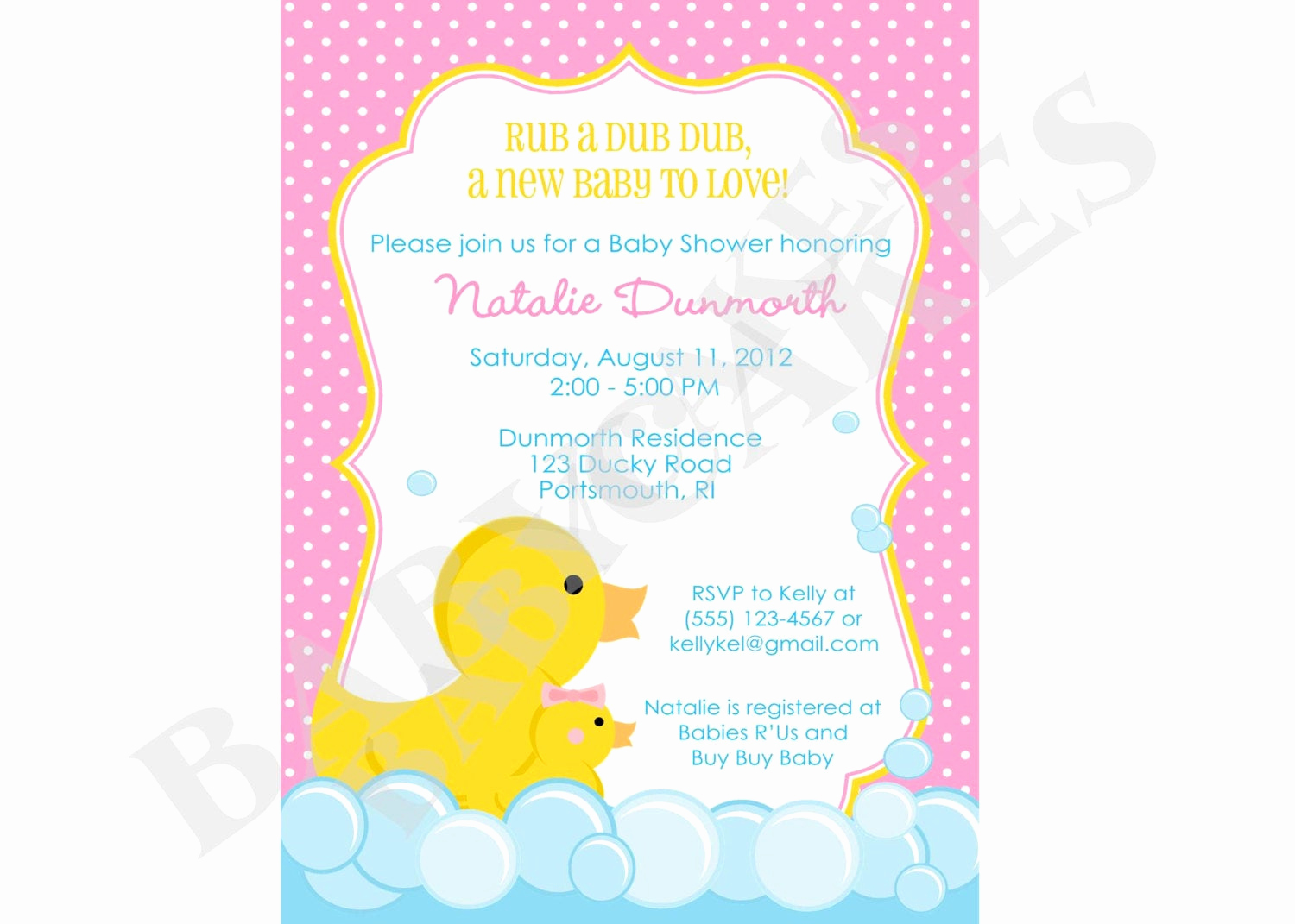 Rubber Ducky Baby Shower Invitation Best Of Rubber Ducky Baby Shower Invitation Rubber Duckie Girl Pink