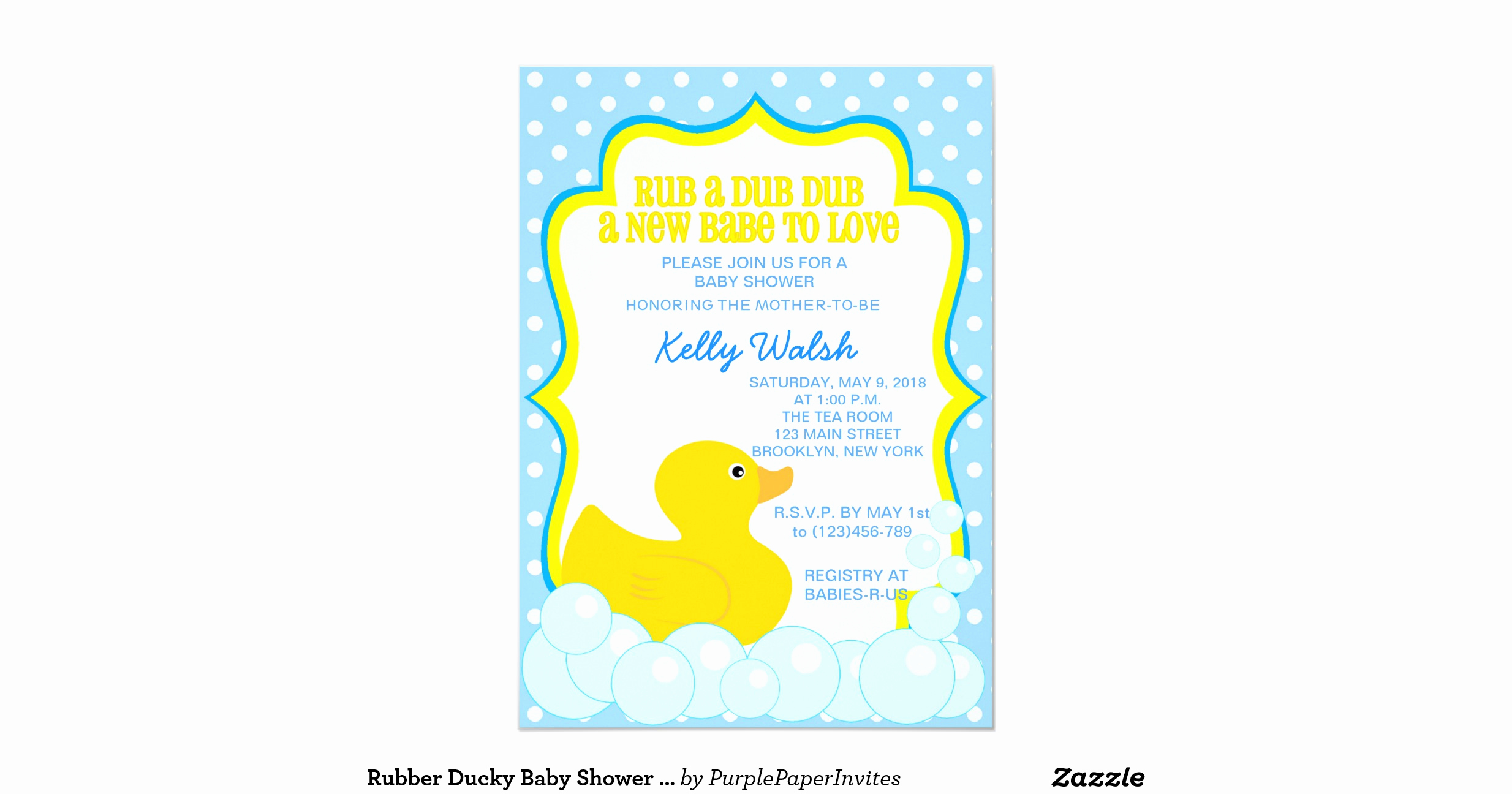 Rubber Ducky Baby Shower Invitation Fresh Rubber Ducky Baby Shower Invitations