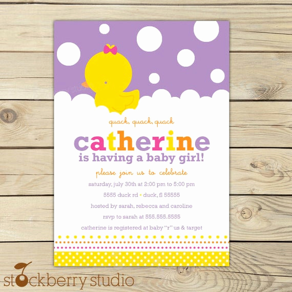 Rubber Ducky Baby Shower Invitation Inspirational Girl Rubber Ducky Baby Shower Invitation Printable Rubber
