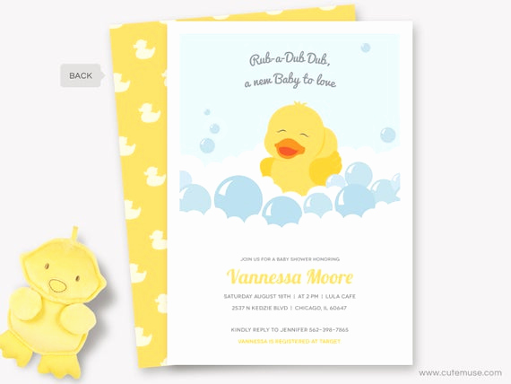 Rubber Ducky Baby Shower Invitation Luxury Rubber Duck Baby Shower Invitation Printable Rubber Ducky