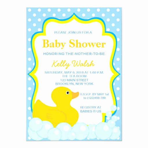 "Rubber Ducky Baby Shower Invitation Unique Rubber Ducky Baby Shower Invitations 5"" X 7"" Invitation"