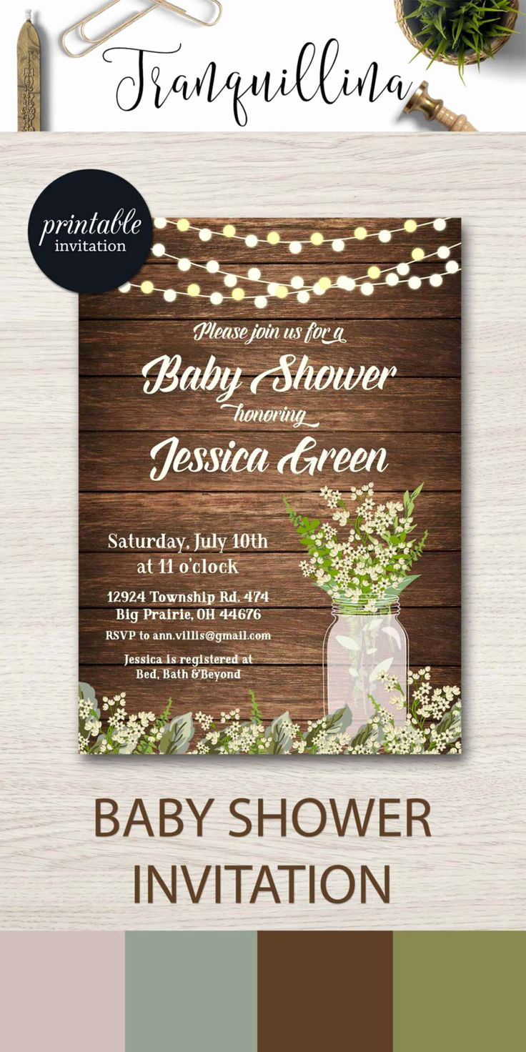 Rustic Baby Shower Invitation Beautiful Best 25 Rustic Baby Showers Ideas On Pinterest
