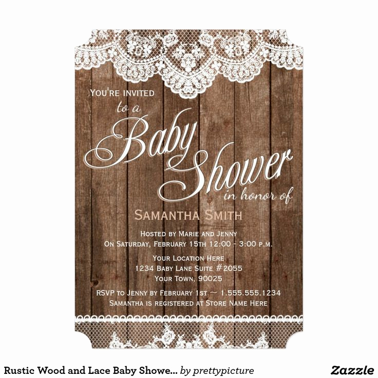 Rustic Baby Shower Invitation Best Of 1000 Ideas About Rustic Baby Showers On Pinterest
