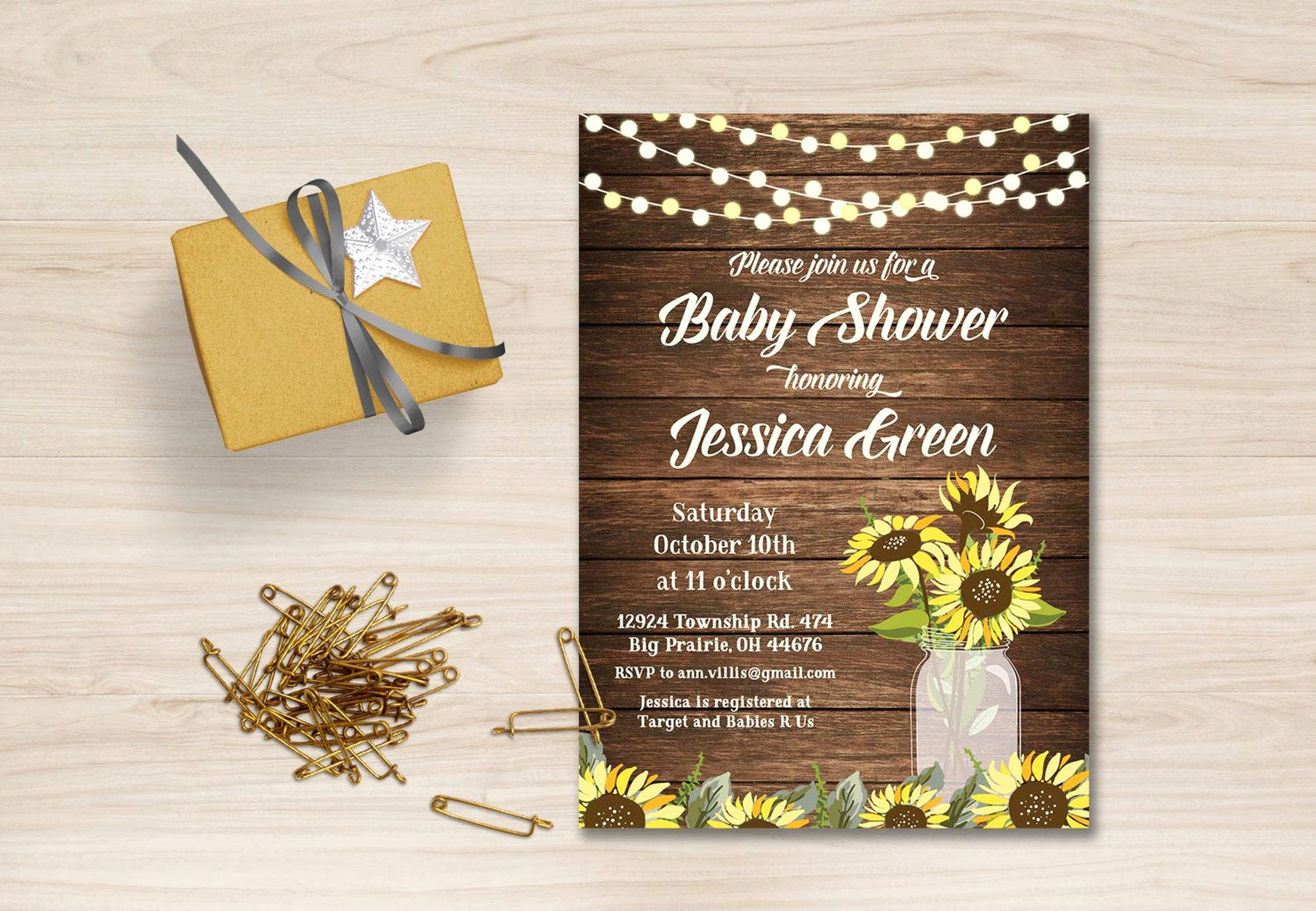 Rustic Baby Shower Invitation Best Of Sunflower Baby Shower Invitation Rustic Baby Shower
