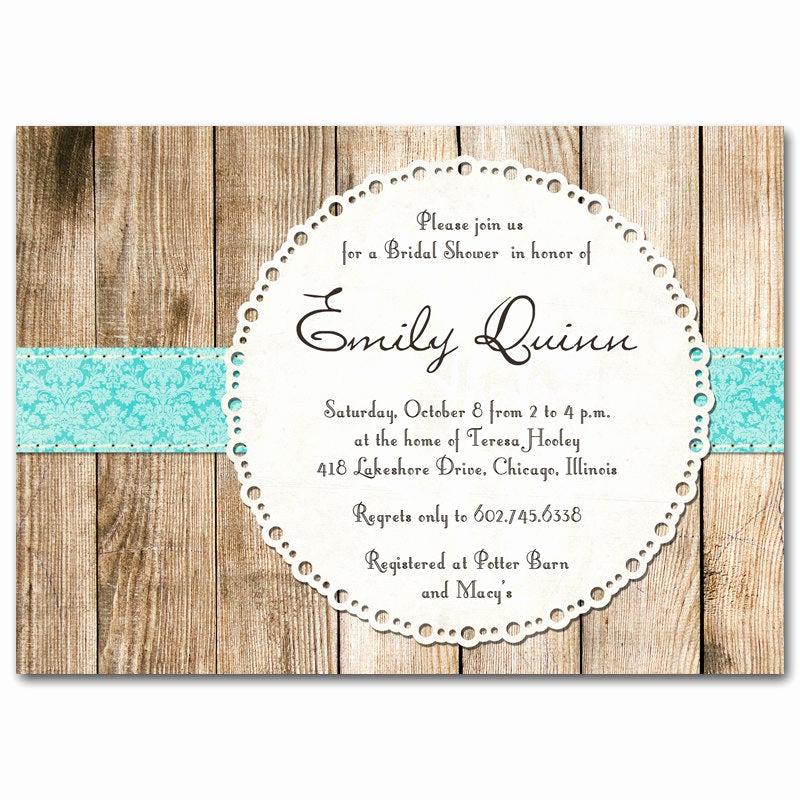 Rustic Baby Shower Invitation Elegant Bridal Shower Invitation Rustic Vintage Gender Neutral by