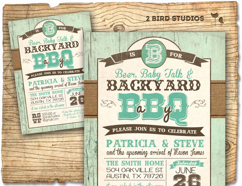 Rustic Baby Shower Invitation Elegant Rustic Baby Shower Invitation Barbecue Baby Shower Baby Q