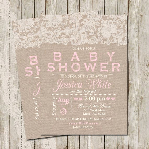 Rustic Baby Shower Invitation Fresh Rustic Baby Shower Invitation Burlap and Lace Invitation