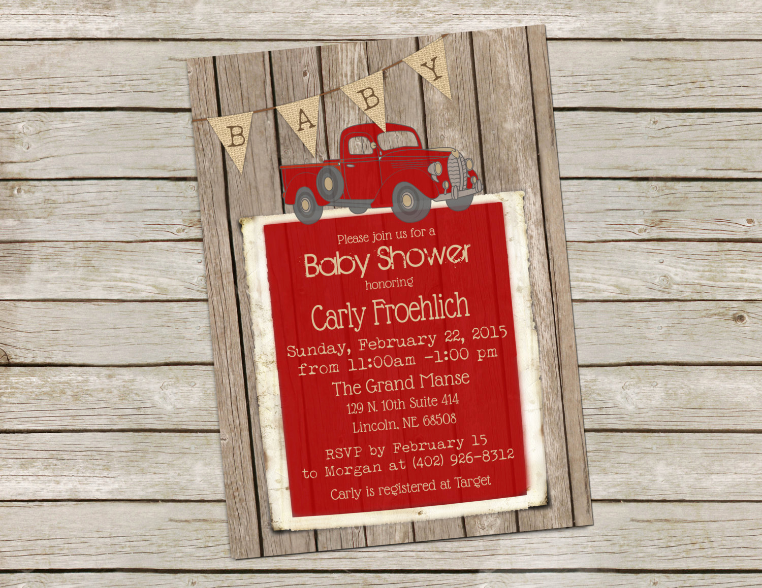 Rustic Baby Shower Invitation Fresh Vintage Truck Baby Shower Invitation Rustic Wood Baby Shower