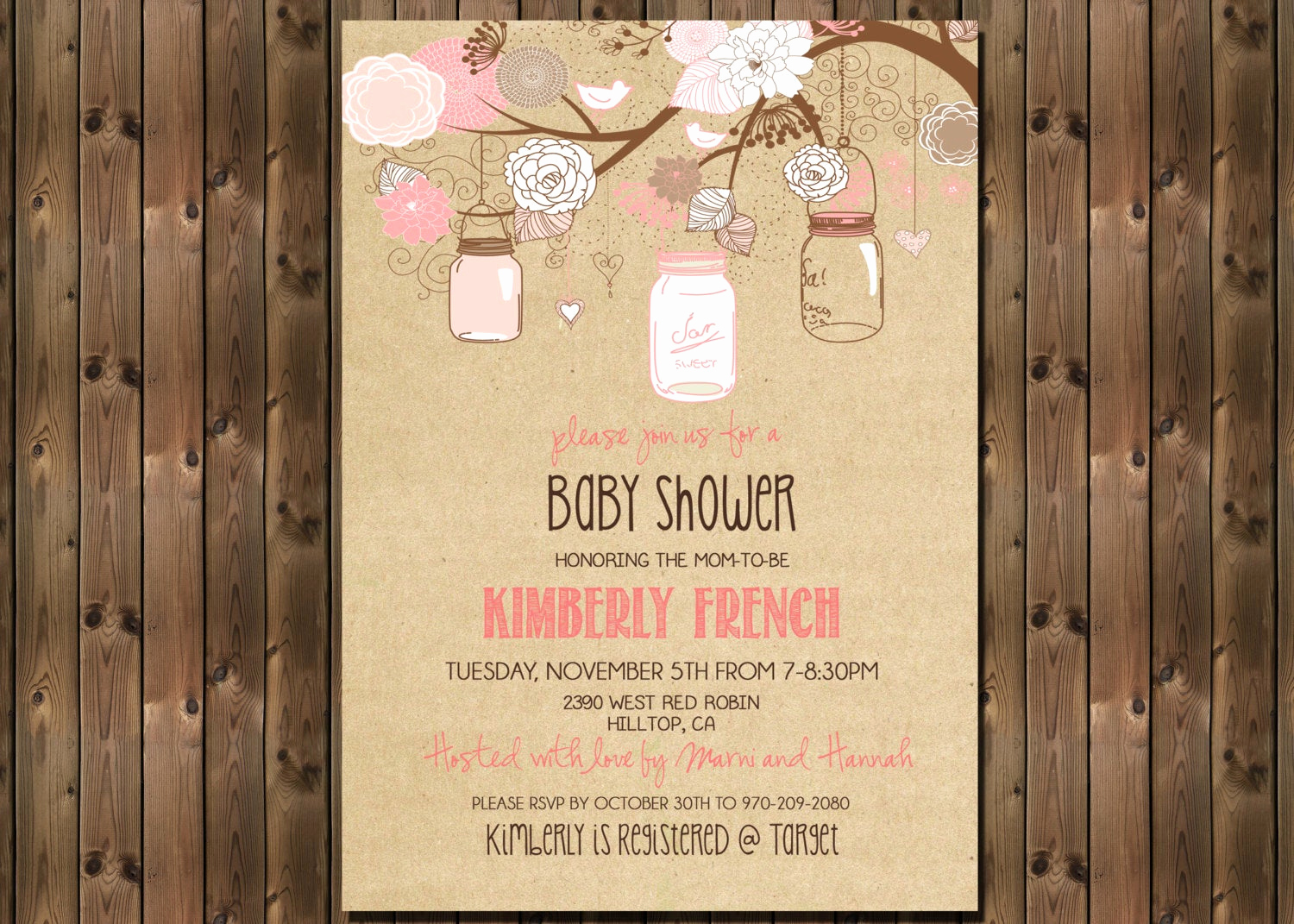 Rustic Baby Shower Invitation Inspirational Rustic Baby Girl Shower Invitation with Mason Jars Digital