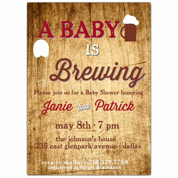 Rustic Baby Shower Invitation Lovely Rustic Plank Baby Shower Invitation