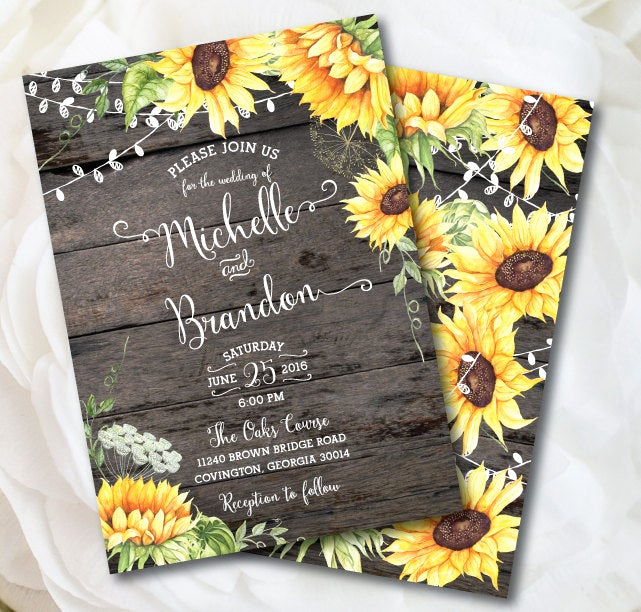 Rustic Wedding Invitation Background Best Of Rustic Sunflower Wedding Invitation Rustic Wedding Country