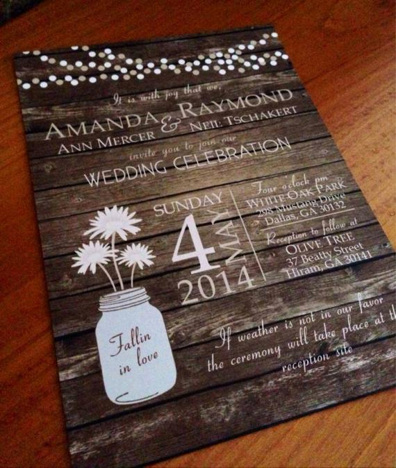 Rustic Wedding Invitation Background Elegant Rustic Country Mason Jar Fall Wood Background Wedding