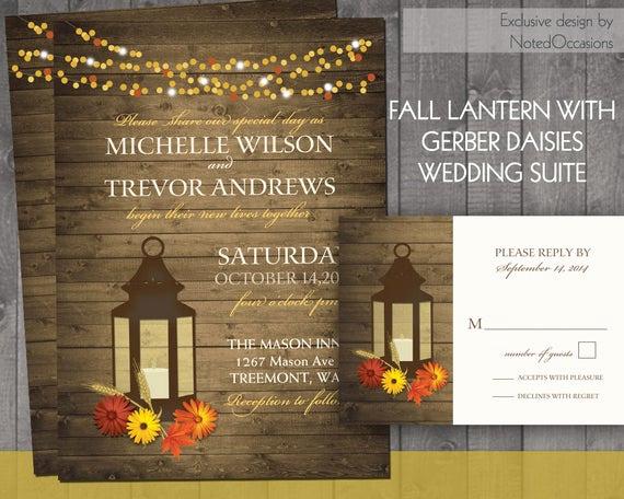 Rustic Wedding Invitation Background Lovely Fall Wedding Invitation Rustic Lantern Country Wedding