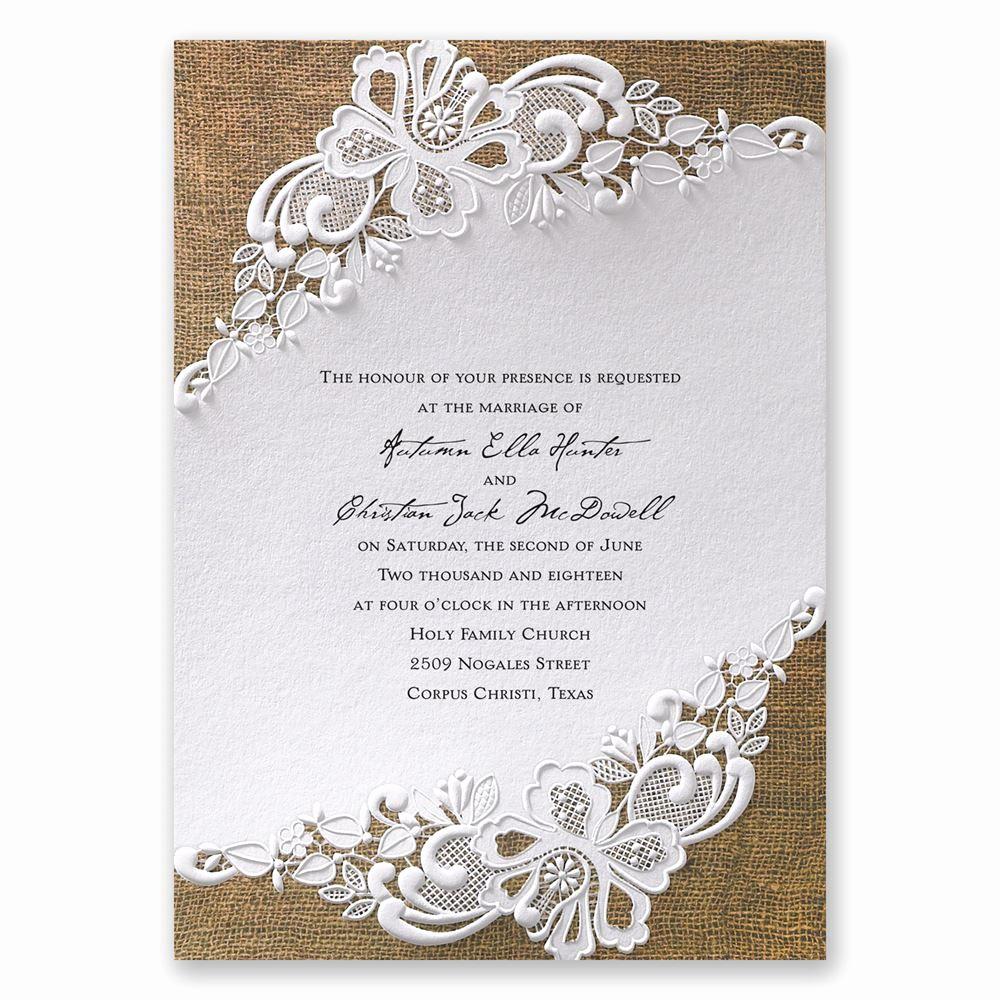 Rustic Wedding Invitation Background Lovely Lacy Dream Invitation Wedding Invitations