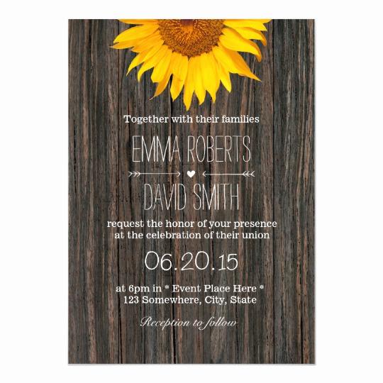 Rustic Wedding Invitation Background Lovely Rustic Dark Wood Background Sunflower Wedding Invitation