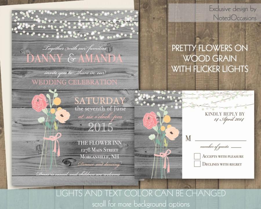 Rustic Wedding Invitation Background Lovely Rustic Wedding Invitations Floral Bouquet and Dangling