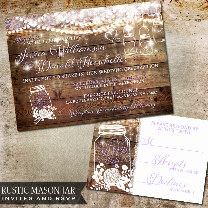 Rustic Wedding Invitation Background New Mason Jar Wedding Invitation Rustic Wedding by Oddlotpaperie