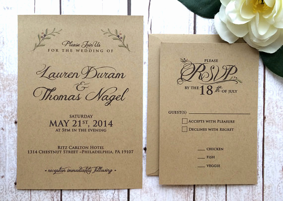 Rustic Wedding Invitation Ideas Awesome 50 Fall Wedding Invitations
