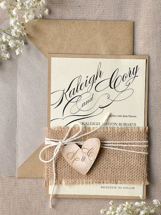 Rustic Wedding Invitation Ideas Beautiful 22 Cute Burlap Wedding Invitation Ideas Weddingomania