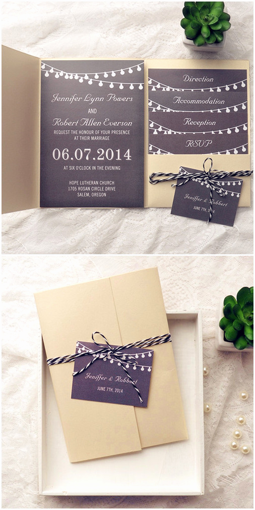 Rustic Wedding Invitation Ideas Best Of top 10 Pocket Wedding Invitation Kits for Spring 2015