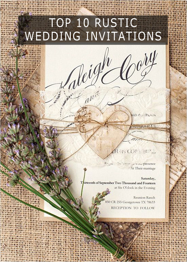 Rustic Wedding Invitation Ideas Elegant top 10 Rustic Wedding Invitations to Wow Your Guests