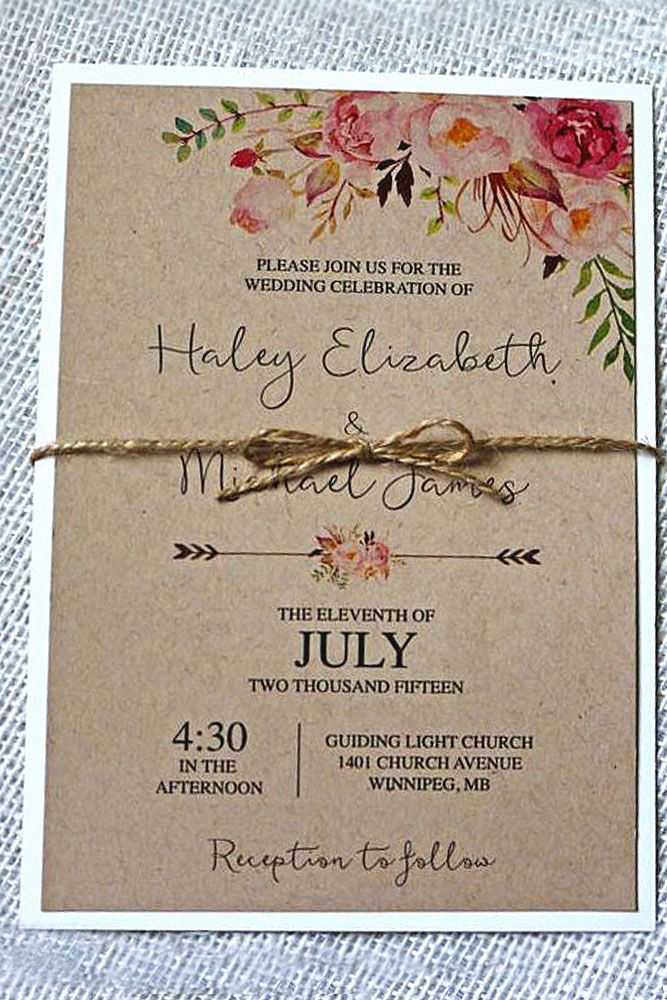 Rustic Wedding Invitation Ideas Fresh 24 Rustic Wedding Invitations to Impress Your Guests