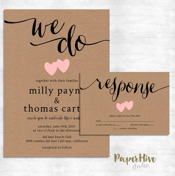 Rustic Wedding Invitation Paper Awesome Rustic Wedding Invitation Kraft Paper Wedding Invitation