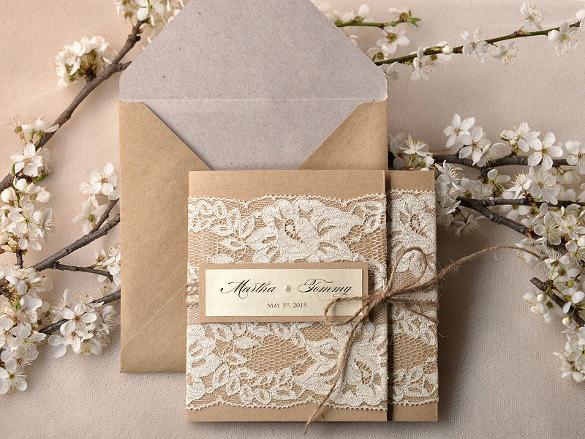 Rustic Wedding Invitation Paper Inspirational 16 Pocket Wedding Invitation Templates Psd Jpg