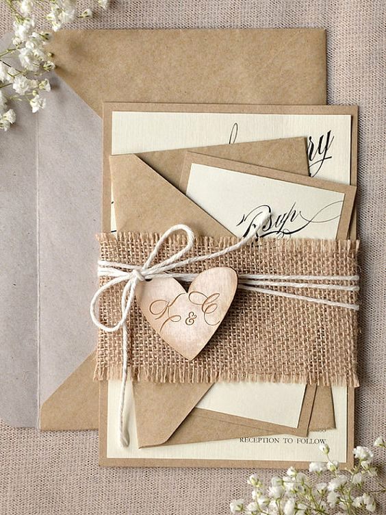 Rustic Wedding Invitation Paper Lovely 50 Rustic Country Kraft Paper Wedding Ideas