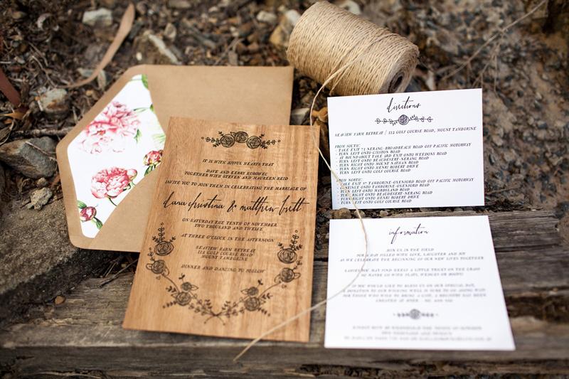 Rustic Wedding Invitation Paper Lovely Dana Matt S Rustic Floral Wood Veneer Wedding Invitaions