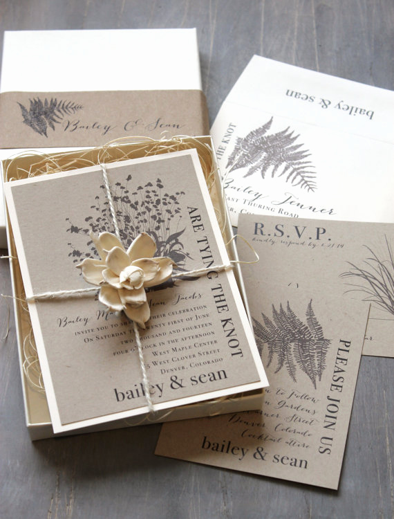 Rustic Wedding Invitation Paper Lovely Eco Stationary Wedding Invitations and More