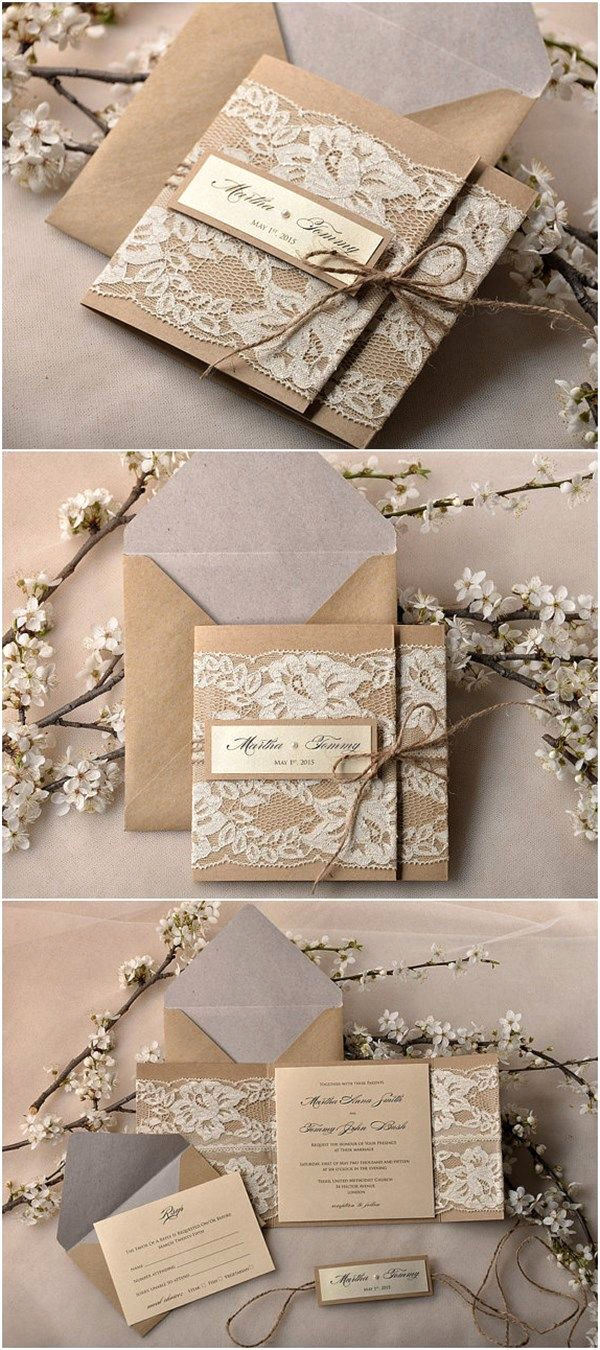 Rustic Wedding Invitation Paper Luxury 182 Best Images About Idees Vir Troues On Pinterest