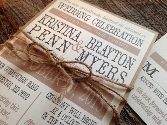Rustic Wedding Invitation Sets Beautiful Rustic Wedding Invitation Setcountry Chic Wedding