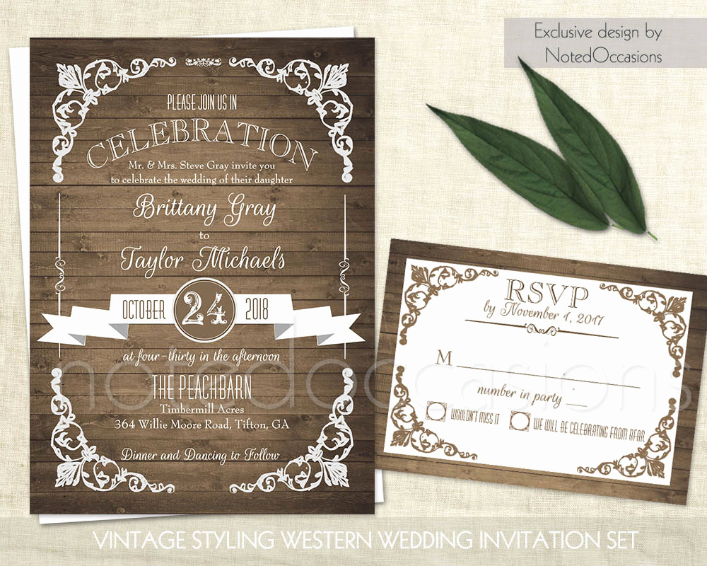 Rustic Wedding Invitation Sets Inspirational Rustic Wedding Invitation Printable Set Country by