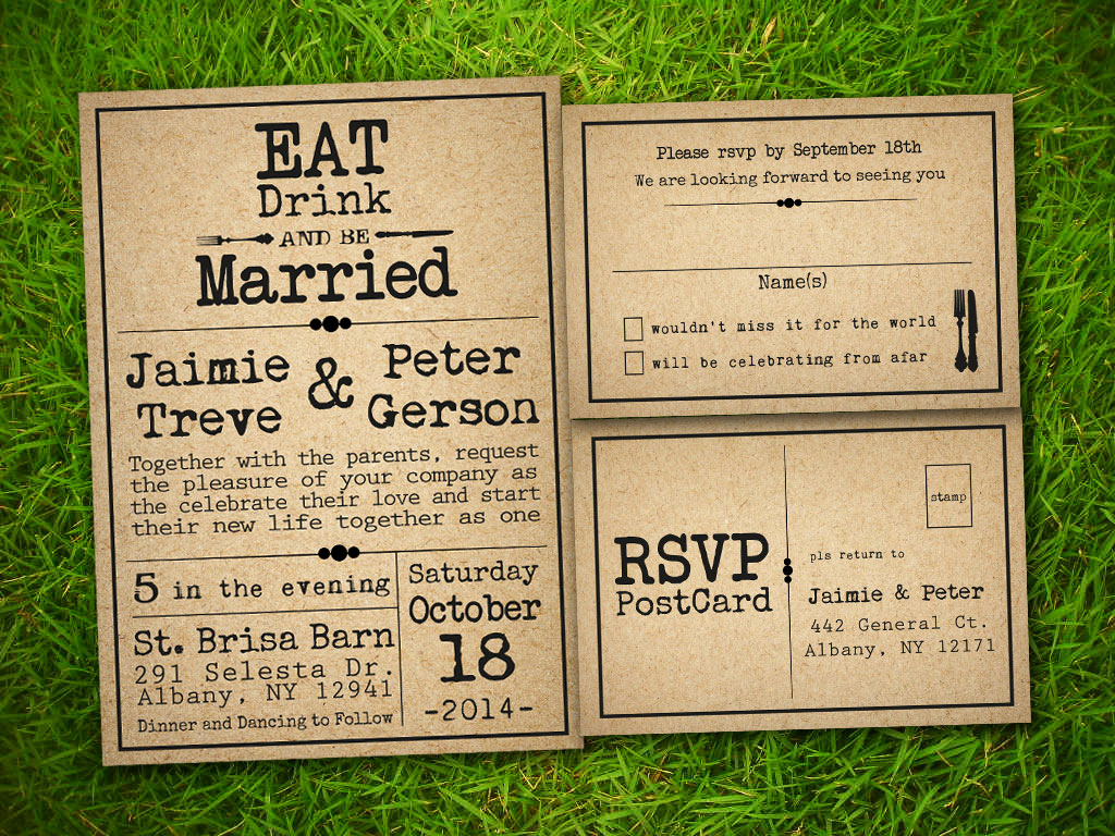 Rustic Wedding Invitation Templates Awesome Etsy Template1