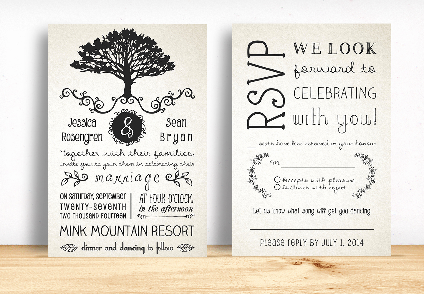 Rustic Wedding Invitation Templates Awesome Rustic Wedding Invitation Pack Invitation Templates On