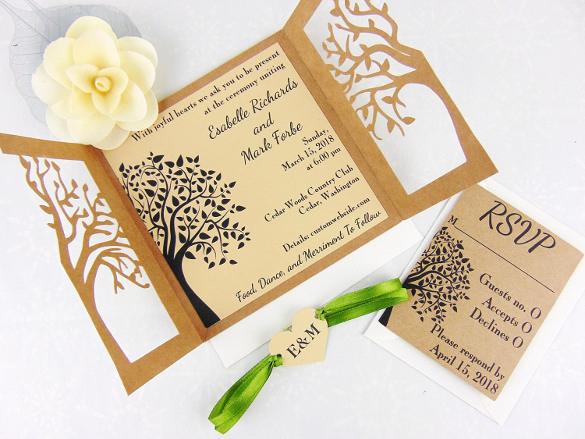Rustic Wedding Invitation Templates Beautiful 28 Rustic Wedding Invitation Design Templates Psd Ai