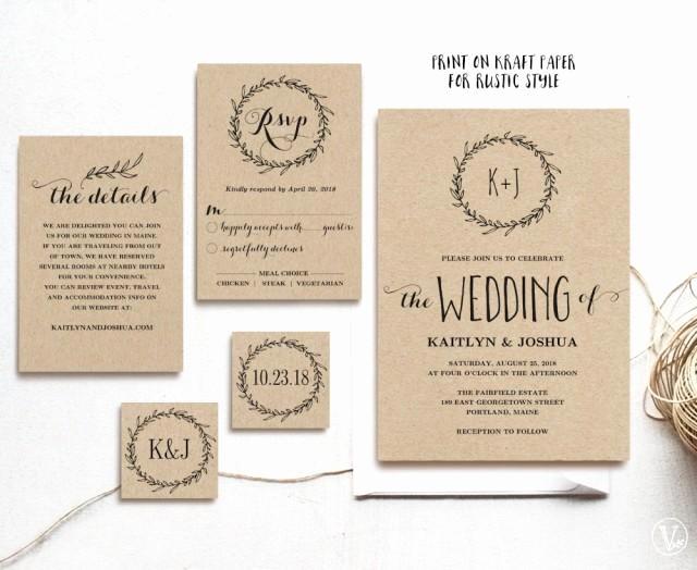 Rustic Wedding Invitation Templates Best Of Classic Wreath Printable Wedding Invitation Template
