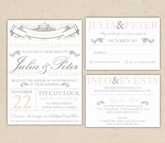 Rustic Wedding Invitation Templates Best Of Rustic Wedding Invitation Template Vintage Modern Printable