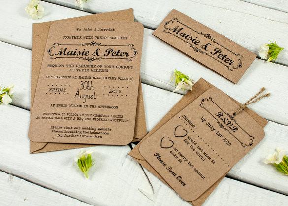 Rustic Wedding Invitation Templates Elegant 28 Rustic Wedding Invitation Design Templates Psd Ai