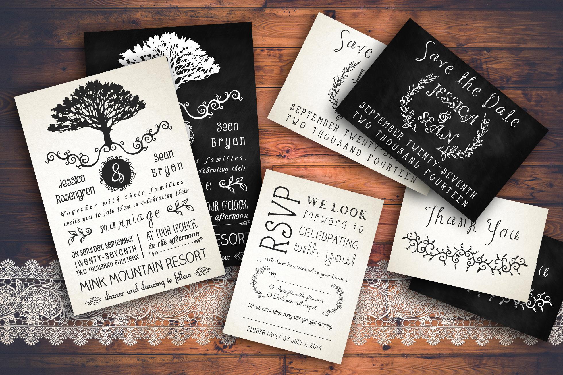 Rustic Wedding Invitation Templates Fresh Rustic Wedding Invitation Pack Invitation Templates On