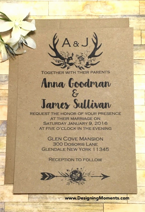 Rustic Wedding Invitation Templates Lovely Rustic Wedding Invitations Templates