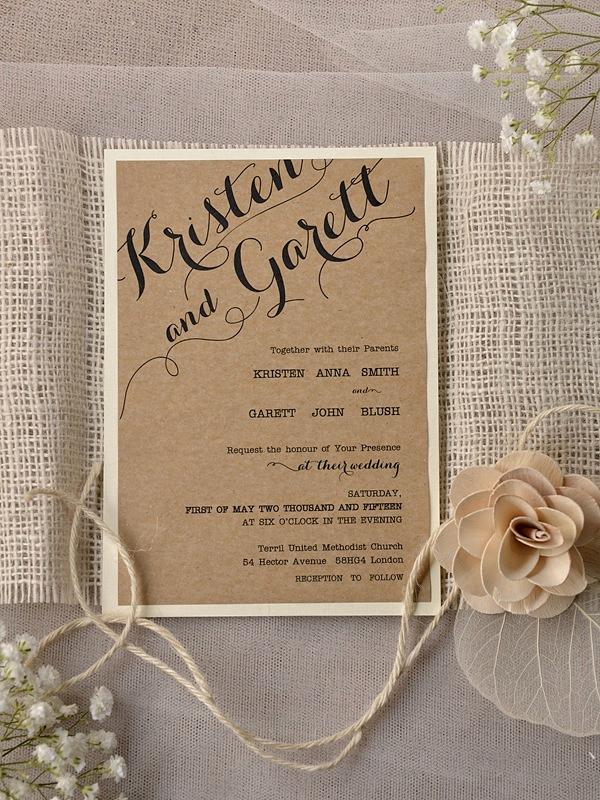 Rustic Wedding Invitation Templates Luxury Rustic Wedding Invitation Templates