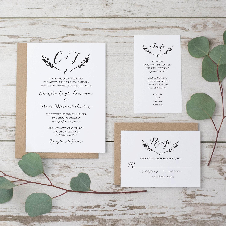 Rustic Wedding Invitation Templates Luxury Sale Rustic Wedding Invitation Template Printable Wedding