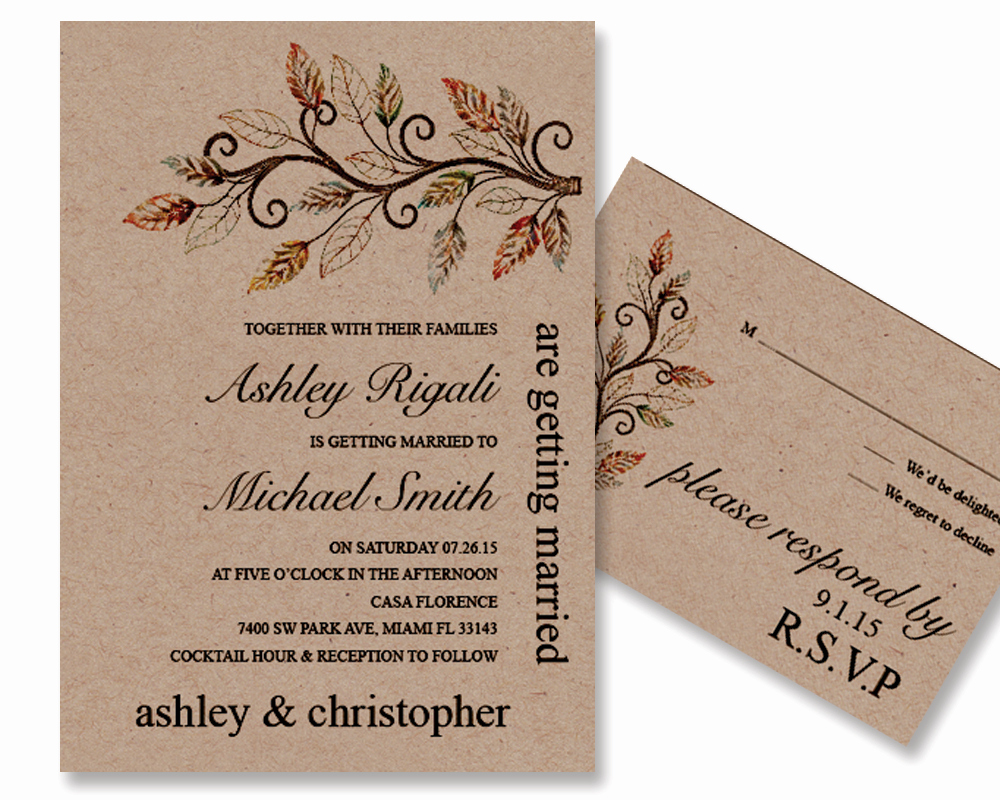 Rustic Wedding Invitation Templates New Rustic Wedding Invitation Template