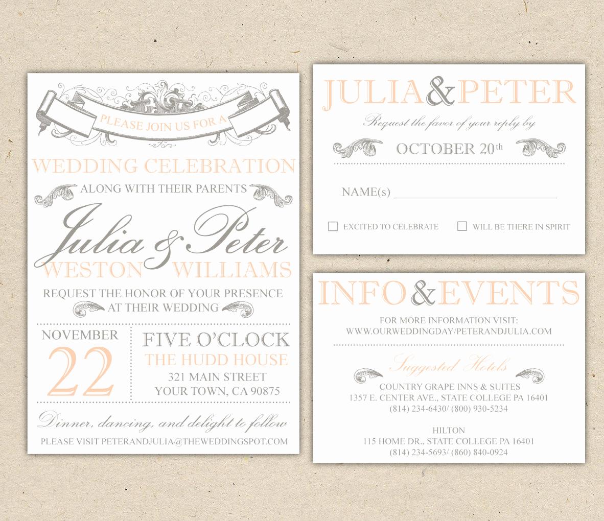 Rustic Wedding Invitation Templates Unique Rustic Wedding Invitation Template Vintage Modern Printable